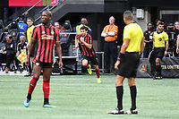 Atlanta, GA - October 6, 2019. Atlanta United defeated the New England Revolution, 3-1, on the final day of the 2019 MLS regular season, in a match played at Mercedes-Benz Stadium in front of a crowd of 44,617.
