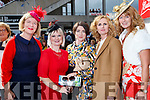 Siobhan Mahony, Deirdre O'Connor (Listowel) with Margaret Lane and Martina Scanlon (Lisselton) and Mags Relihan (Listowel), enjoying Ladies Day at Listowel Races on Friday last.