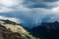 Summer thunderstorms from Ice Lakes Basin, San Juan mountains, Colorado, USA