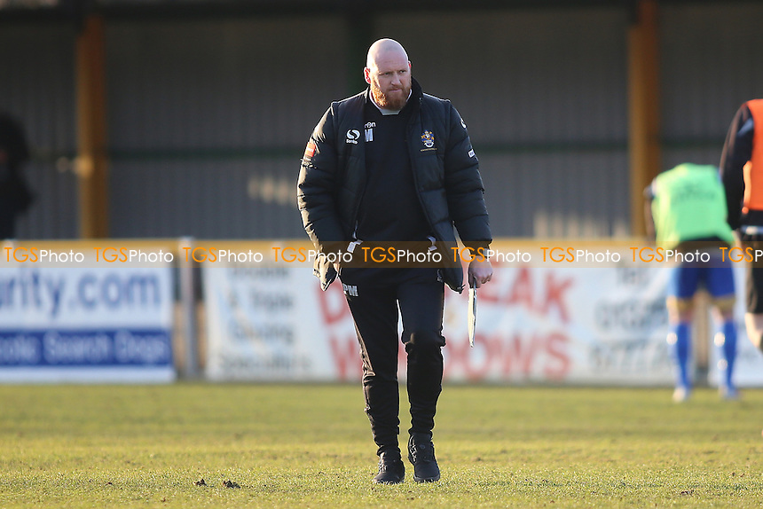 Paul Martin Romford manager  during Romford vs Cheshunt, Ryman League Division 1 North Football at Ship Lane on 28th January 2017