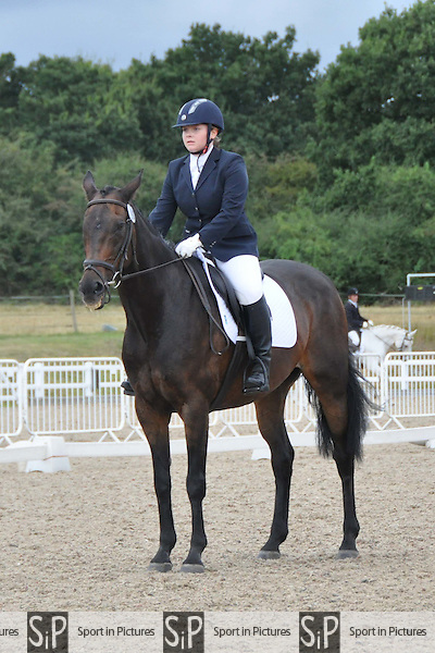 Class 4. Unaffiliated dressage. Brook Farm Training Centre. Essex. 21/08/2016. MANDATORY Credit Bronwyn Stevens/Sportinpictures - NO UNAUTHORISED USE - 07837 394578