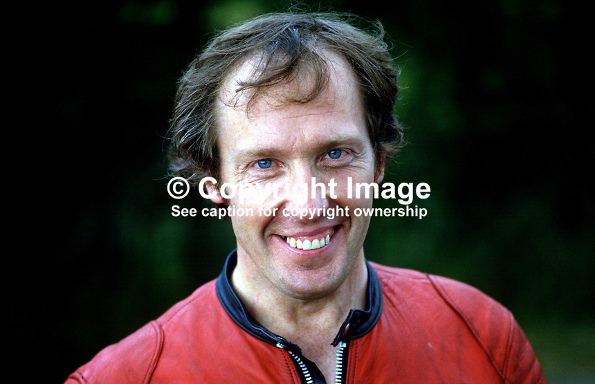Ray McCullough, Dromara, N Ireland, UK, racing motorcylist, 19840100RMC..Copyright Image from Victor Patterson, 54 Dorchester Park, Belfast, UK, BT9 6RJ..Tel: +44 28 9066 1296.Mob: +44 7802 353836.Voicemail +44 20 8816 7153.Skype: victorpattersonbelfast.Email: victorpatterson@me.com.Email: victorpatterson@ireland.com (back-up)..IMPORTANT: If you wish to use this image or any other of my images please go to www.victorpatterson.com and click on the Terms & Conditions. Then contact me by email or phone with the reference number(s) of the image(s) concerned.