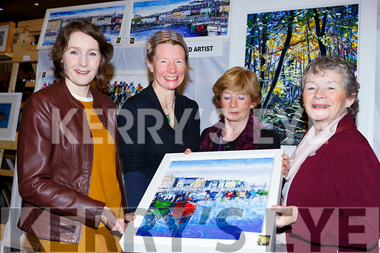 Linda Horgan, Tina Reed Artist, Mary McCarthy and Carmel Horgan at the Killarney Rotary club Wine+Art night in the Malton Hotel on Saturday night
