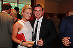 Mrs Brown star Danny O'Carroll with his wife Amanda O'Carroll.<br /> Celebrity Cup Gala Dinner<br /> Celtic Manor Resort<br /> 05.07.14<br /> &copy;Steve Pope-SPORTINGWALES