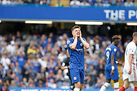 Mason Mount of Chelsea sees a chance go begging during the Premier League match between Chelsea and Sheff United at Stamford Bridge, London, England on 31 August 2019. Photo by Carlton Myrie / PRiME Media Images.