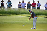 Shugo Imahira (JPN) watches his putt on 11 during Thursday's round 1 of the 117th U.S. Open, at Erin Hills, Erin, Wisconsin. 6/15/2017.<br /> Picture: Golffile | Ken Murray<br /> <br /> <br /> All photo usage must carry mandatory copyright credit (&copy; Golffile | Ken Murray)