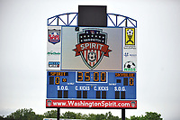 Boyds, MD - Saturday May 6, 2017: Washington Spirit scoreboard prior to a regular season National Women's Soccer League (NWSL) match between the Washington Spirit and Sky Blue FC at Maureen Hendricks Field, Maryland SoccerPlex.