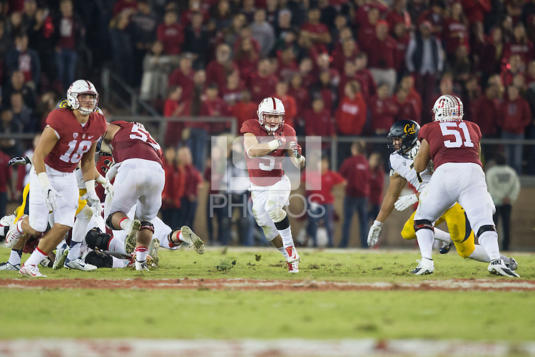 Stanford, CA - November 21, 2015: Stanford Football vs California. The Cardinal defeated the Golden Bears 35-22.