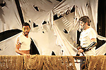 Tremaine Montell Ford & Dan Sheridan - Hermes & Zeus - Dress Rehearsal of Odyssey - The Epic Musical on October 21, 2011 at the American Theatre of Actors, New York City, New York. (Photo by Sue Coflin/Max Photos)