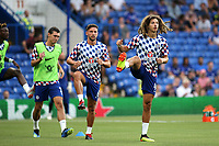 Ethan Ampadu of Chelsea warms up pre-match in front of Danny Drinkwater during Chelsea vs Lyon, International Champions Cup Football at Stamford Bridge on 7th August 2018