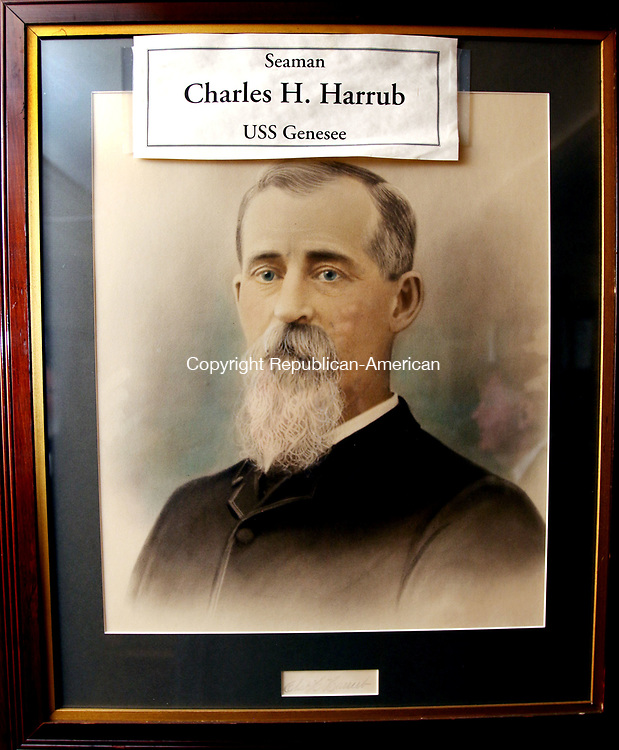 WATERBURY CT. 11 December 2017-011118SV04-A portrait of Charles H. Harrub the Masonic Lodge&rsquo;s most prominent member from 1800&rsquo;s-1922 hangs in the lodge in Waterbury Thursday. <br /> Steven Valenti Republican-American