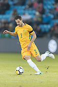 23rd March 2018, Ullevaal Stadion, Oslo, Norway; International Football Friendly, Norway versus Australia; Milos Degenek of Australia control the midfield ball