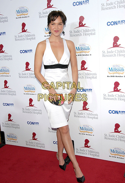 ARIELLE KEBBELL.Attends Runway for Life, Benefiting St. Jude Children's Research Hospital held at The Beverly Hilton Hotel in Beverly Hills, California, USA, September 15th 2006..full length black and white dress.Ref: DVS.www.capitalpictures.com.sales@capitalpictures.com.©Debbie VanStory/Capital Pictures
