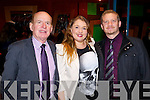 John Prior, Kerina Clifford and Gareth Roche, pictured at the Castleisland Winter Fashion Show in the River Island hotel on Thursday evening.