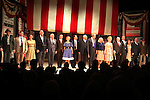 Ensemble Cast featuring: James Earl Jones, Angela Lansbury, John Larroquette, Candice Bergen, Eric McCormack, Kerry Butler, Jefferson Mays & Michael McKeon.during the Broadway Opening Night Performance Curtain Call for 'Gore Vidal's The Best Man' at the Gerald Schoenfeld Theatre in New York City on 4/1/2012