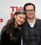 "Tracey Ullman and Richard Thomas attends the Off-Broadway Opening Night Premiere of  ""Jerry Springer-The Opera"" on February 22, 2018 at the Roundabout Rehearsal Studios in New York City."