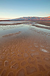 Mud patterns in the Cottonball Marsh area along Salt Creek in Death Valley National Park, California, USA
