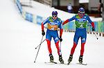 Russian team compete during the Nordic Combined NH Team Gundersen as part of the Winter Universiade Trentino 2013 on 18/12/2013 in Lago Di Tesero, Italy.<br /> <br /> &copy; Pierre Teyssot - www.pierreteyssot.com