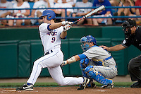 Florida's Jonathan Pigott against UCLA in Game 2 of the NCAA Division One Men's College World Series on Saturday June 19th, 2010 at Johnny Rosenblatt Stadium in Omaha, Nebraska.  (Photo by Andrew Woolley / Four Seam Images)