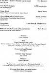 Program for  'The Concert - A Celebration of Contemporary Musical Theatre' at The Second StageTheatre in New York City on 1/21/2013