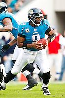 December 06, 2009:     Jacksonville Jaguars quarterback David Garrard (9) during AFC South Conference action between the Houston Texans and Jacksonville Jaguars at Jacksonville Municipal Stadium in Jacksonville, Florida.  Jacksonville defeated Houston 23-18............