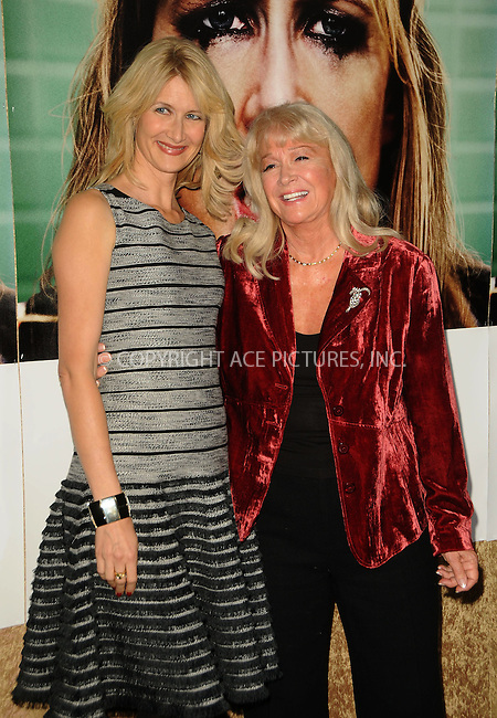 WWW.ACEPIXS.COM . . . . .  ....October 6 2011, LA....Actresses Laura Dern and Diane Ladd arriving at the premiere of HBO's 'Enlightened' at Paramount Theater on October 6, 2011 in Hollywood, California.....Please byline: PETER WEST - ACE PICTURES.... *** ***..Ace Pictures, Inc:  ..Philip Vaughan (212) 243-8787 or (646) 679 0430..e-mail: info@acepixs.com..web: http://www.acepixs.com
