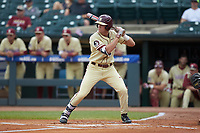 Jackson Lueck (2) of the Florida State Seminoles at bat against the North Carolina Tar Heels in the 2017 ACC Baseball Championship Game at Louisville Slugger Field on May 28, 2017 in Louisville, Kentucky. The Seminoles defeated the Tar Heels 7-3. (Brian Westerholt/Four Seam Images)