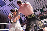 Miles Shinkwin vs Josip Perkovic 6x3 - Light Heavyweight Contest During Goodwin Boxing - Date With Destiny. Photo by: Simon Downing.<br /> <br /> Saturday September 23rd 2017 - York Hall, Bethnal Green, London, United Kingdom.