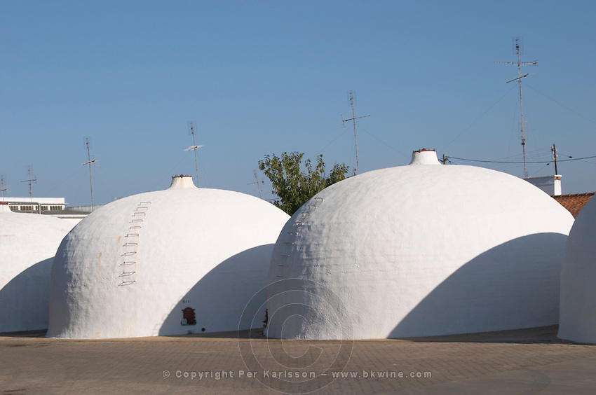 outside fermentation and storage tanks adega cooperativa de borba alentejo portugal