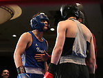 Nevada boxer Danny Rich and Air Force Academy boxer Walker Morris compete in the National Collegiate Boxing Association action in Reno, Nev. on Friday, Jan. 31, 2020. Rich won the bout. <br /> Photo by Cathleen Allison