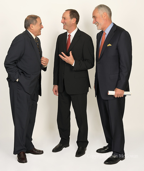 Businessmen in spirited discussion