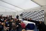 Stamford, Lincolnshire, United Kingdom, 8th September 2019, The press conference at the end of the 2019 Land Rover Burghley Horse Trials, Credit: Jonathan Clarke/JPC Images