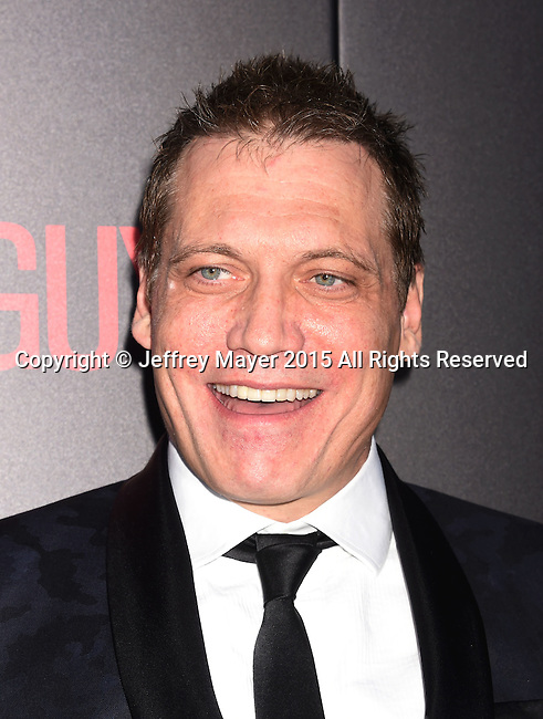 BEVERLY HILLS, CA - SEPTEMBER 02: Actor Holt McCallany arrives at the premiere of Screen Gems' 'The Perfect Guy' at The WGA Theater on September 2, 2015 in Beverly Hills, California.