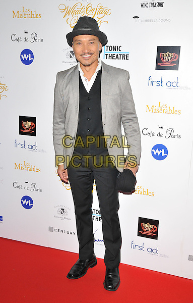 Jon Jon Briones attends the Whatsonstage.com Awards Concert 2016, Prince of Wales Theatre, Coventry Street, London, UK, on Sunday 21 February 2016.<br /> CAP/CAN<br /> &copy;CAN/Capital Pictures