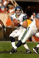 Nov. 6, 2005; Tempe, AZ, USA; Quarterback (8) Matt Hasselbeck of the Seattle Seahawks against the Arizona Cardinals at Sun Devil Stadium. Mandatory Credit: Mark J. Rebilas