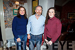 Jimmy Moriarty from Tralee celebrating his birthday in Cassidys on Friday night.<br /> L to r, Joan, Jimmy and Ruth Moriarty.