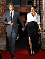 07 February 2019 - Prince Harry Duke of Sussex and Meghan Markle Duchess of Sussex arrive to attend the annual Endeavour Fund Awards at Draper's Hall in London. The Royal Foundation's Endeavour Fund Awards celebrate the achievements of wounded, injured and sick servicemen and women who have taken part in sporting and adventure challenges over the last year. Photo Credit: ALPR/AdMedia