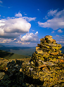 Cumulus clouds from the summit of Bondcliff in the Pemigewasset Wilderness of the White Mountains, New Hampshire.