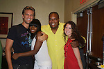OLTL's John Brotherton, Tika Sumpter, Sean Ringgold & Brittany Underwood at the One Life To Live Fan Club Luncheon on August 16, 2008 at the New York Marriott Marquis, New York, New York.  (Photo by Sue Coflin/Max Photos)