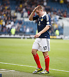 James Forrest dejection at the end as he walks off
