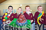 Pupils at Holy Family National School demonstrating their science projects as part of the school exhibition to mark 2009 Science week. .L-R Aidan Mangan, Josh Wadding, Josh Leahy and Dylan Savage