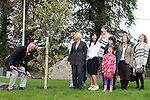 Robert Berney with Carmel Schmidt, teachers, parents, pupils and past pupils at the tree planting ceremony as Drogheda Grammar School celebrate 340 years of education...Photo NEWSFILE/Jenny Matthews.(Photo credit should read Jenny Matthews/NEWSFILE)....This Picture has been sent you under the condtions enclosed by:.Newsfile Ltd..The Studio,.Millmount Abbey,.Drogheda,.Co Meath..Ireland..Tel: +353(0)41-9871240.Fax: +353(0)41-9871260.GSM: +353(0)86-2500958.email: pictures@newsfile.ie.www.newsfile.ie.FTP: 193.120.102.198.