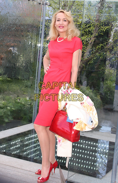 LONDON, ENGLAND - MAY 19: Jerry Hall attends the Press and VIP preview day of The RHS Chelsea Flower Show at The Royal Hospital Chelsea on May 19, 2014 in London, England.<br /> CAP/JIL<br /> &copy;Jill Mayhew/Capital Pictures