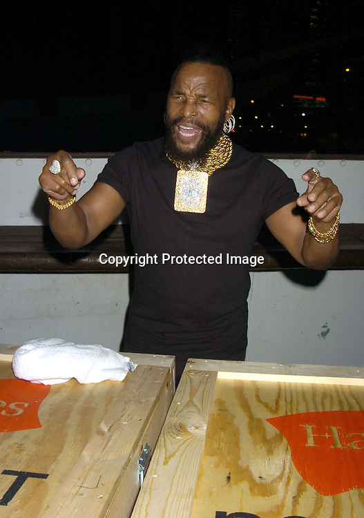 Mr T ..at the Hanes Perfect T Party hosted by Kevin Dillon on August 16, 2005 at The South Street Seaport onboard The Peking. ..Photo by Robin Platzer, Twin Images