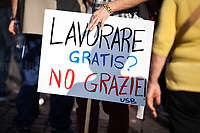 """""""Work For Free? No Thanks!""""<br /> <br /> Rome, 01/05/2019. This year I will not go to a MayDay Parade, I will not photograph Red flags, trade unionists, activists, thousands of members of the public marching, celebrating, chanting, fighting, marking the International Worker's Day. This year, I decided to show some of the Workers I had the chance to meet and document while at Work. This Story is dedicated to all the people who work, to all the People who are struggling to find a job, to the underpaid, to the exploited, and to the people who work in slave conditions, another way is really possible, and it is not the usual meaningless slogan: MAKE MAYDAY EVERYDAY!<br /> <br /> Happy International Workers Day, long live MayDay!"""