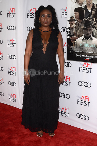 HOLLYWOOD, CA - NOVEMBER 09: Tamar-kali at AFI Fest 2017 Opening Night Gala Screening Of Netflix's Mudbound at TCL Chinese Theatre on November 9, 2017 in Hollywood, California. Credit: David Edwards/MediaPunch