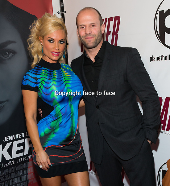LAS VEGAS, NV - January 24 : Coco Austin and Jason Statham pictured at Parker movie Premiere at Planet Hollywood Resort in Las Vegas, Nevada on January 24, 2013. / MediaPunch Inc...Credit: MediaPunch/face to face..- Germany, Austria, Switzerland, Eastern Europe, Australia, UK, USA, Taiwan, Singapore, China, Malaysia and Thailand rights only -