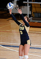 Florida International University women's volleyball player Rachel Fernandez (5) plays against Tulane University.  FIU won the match 3-2 on September 9, 2011 at Miami, Florida. .