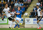 St Johnstone v Rosenborg....25.07.13  Europa League Qualifier\<br /> Stevie May shoots for goal<br /> Picture by Graeme Hart.<br /> Copyright Perthshire Picture Agency<br /> Tel: 01738 623350  Mobile: 07990 594431