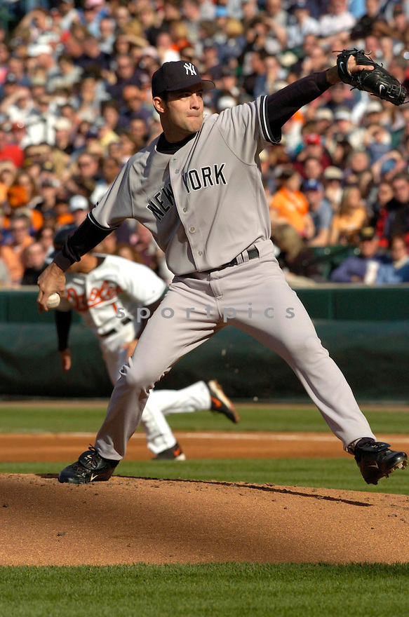 Mike Mussina during the New York Yankees v. Baltimore Orioles game on April 16, 2005...Orioles win 7-6..David Durochik / SportPics